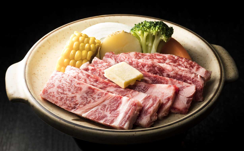 登別牛サーロイン陶板焼き